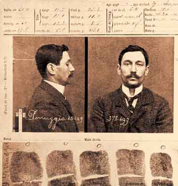 Police photo of Vincenzo Peruggia
